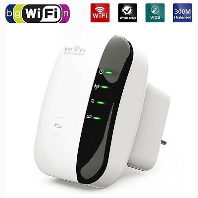 Wifi WLAN Repeater Booster Verstärker Empfänger Router Reichweite 300 Mbit/s Neu