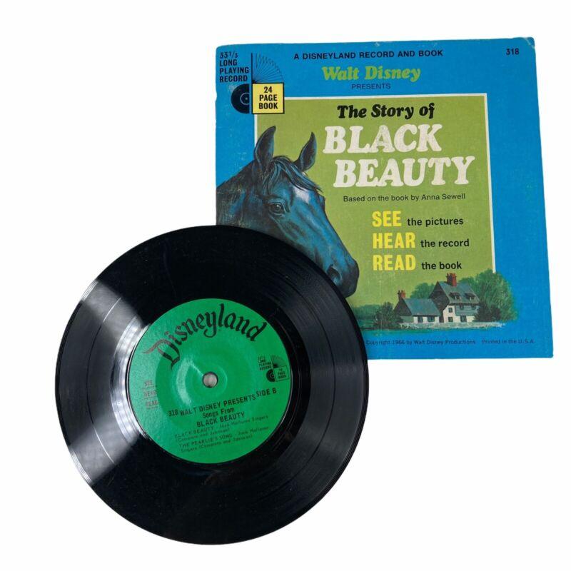 Walt Disney The Story Of Black Beauty Read-Along Book & 33 1/3 RPM Record 1966