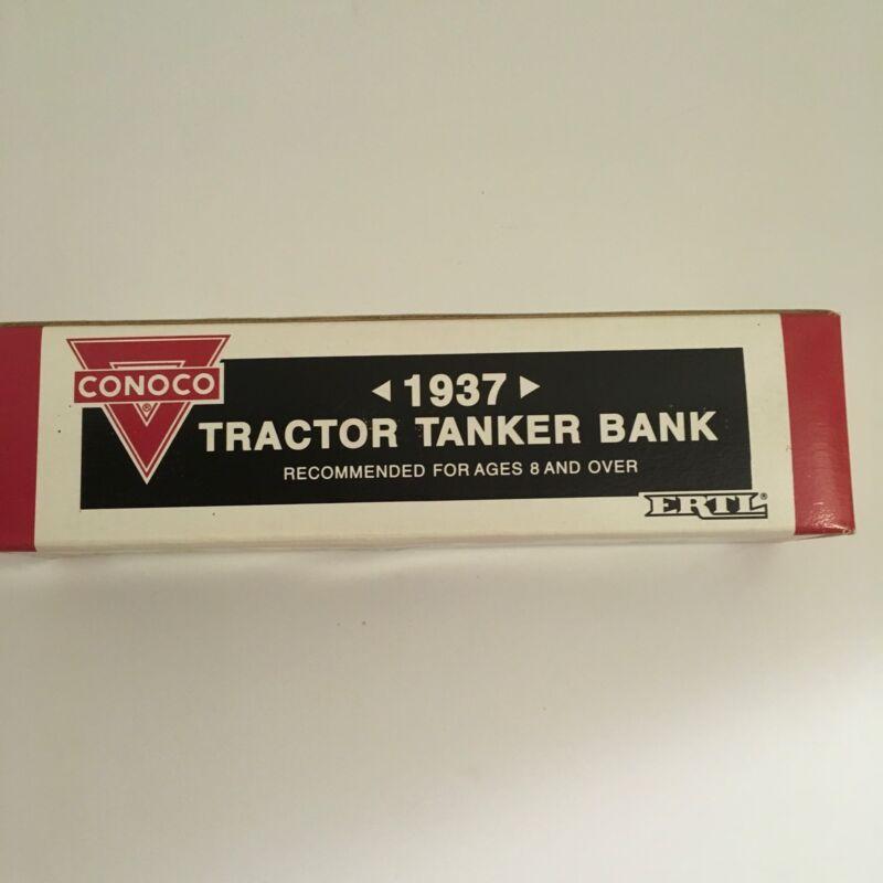 ERTL Conoco Nth Motor Oil 1937 Tractor Tanker Coin Bank #9500UA