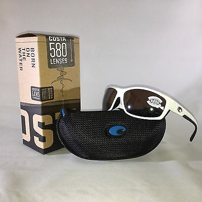 76cb36b454205 New Costa Del Mar-BK 25 OSCGLP-Saltbreak-White-Silver Mir Glass-W580  Sunglasses