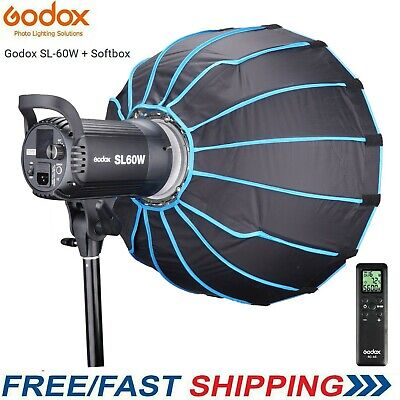 Godox SL-60W LED Light with Softbox for Video Recording,Wedding,Outdoor Shooting
