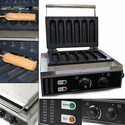 110v 1500w 6pc Nonstick Waffle Maker Hot Dog Stick Sausage Muffin Baking Machine