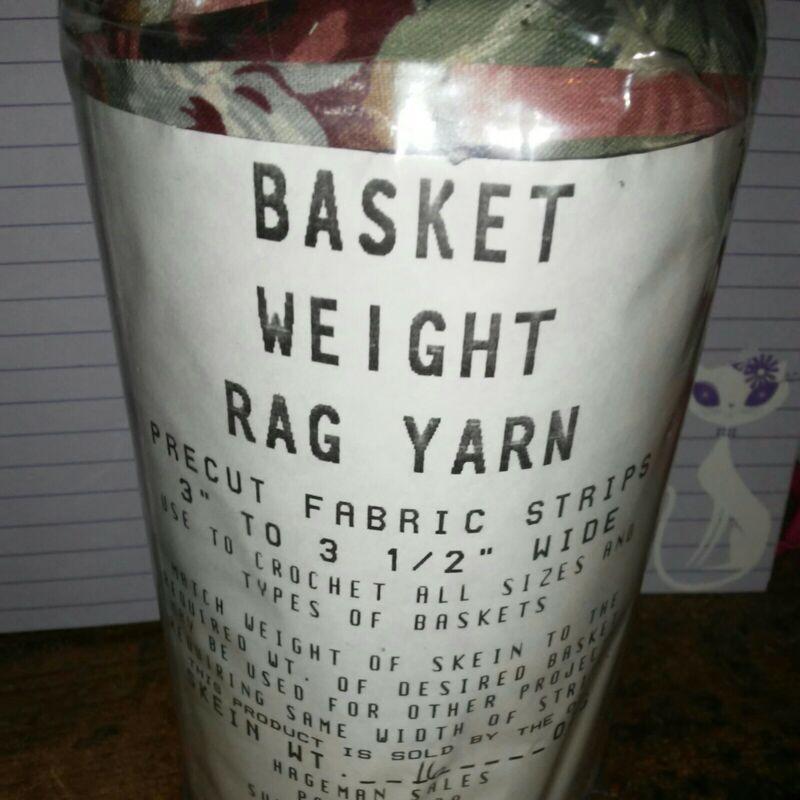Rag Yarn Precut Fabric Strips Basket Weight 16oz Floral