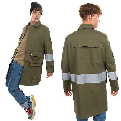 RRP €655 MISBHV Parka Style Jacket Size L Reflective Patches Multipockets