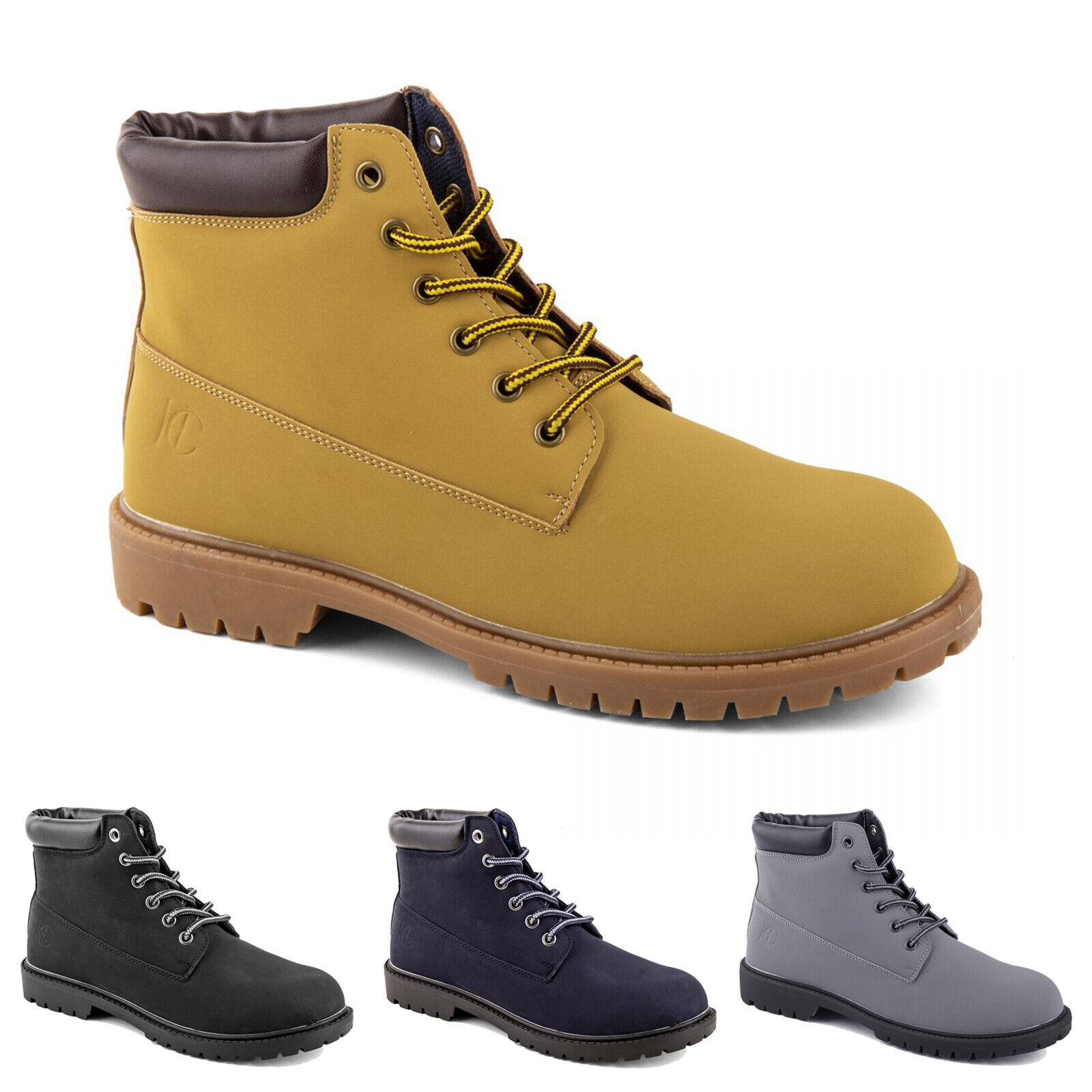 Anfibi Uomo Donna HERNY COTTON'S Stivali Stivaletti Eco Pelle Scarpe Boots