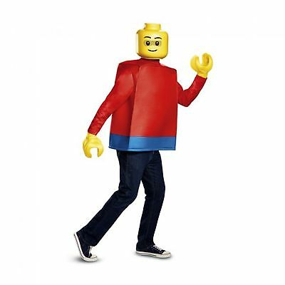 Adult Men's LEGO Guy Classic Movie Toy Yellow Emmet Mask Tunic Halloween Costume](Classic Movie Costumes Halloween)