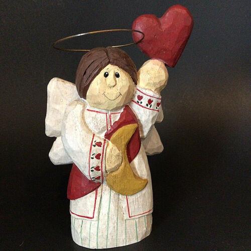 "HEART MOON ANGEL FIGURINE Eddie Walker Cannon Falls  5.25"" Valentine Vintage"
