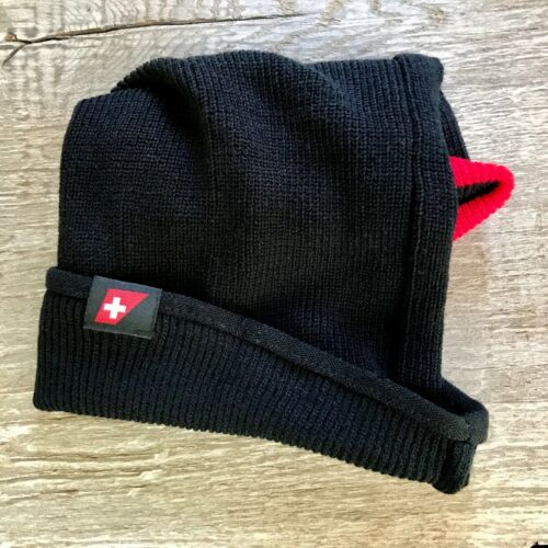 Swiss Airlines Beanie Hat, Neck Warmer Business Class Amenity Kit -Swissair Air