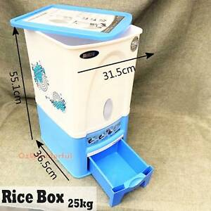 25kg Rice Dispenser,bin,rice box Rice Storage Rice Container Epping Whittlesea Area Preview