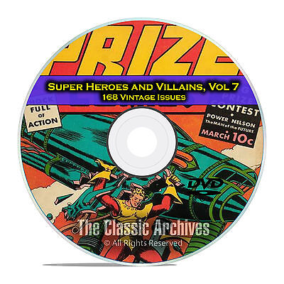 Super Hero And Villain (Super Hero, Villains, Vol 7, Prize and Target Comics, Golden Age Comics DVD)