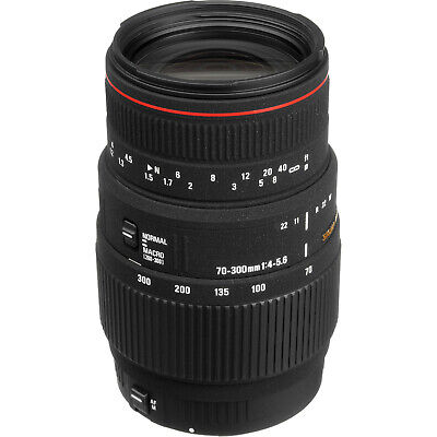 CAMERA LENS Sigma 70-300mm f/4-5.6 APO Macro Super for CANON