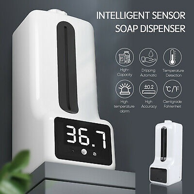 2 In 1 Wall Mounted Thermometer Non-contact Infrared Automatic Soap Dispenser