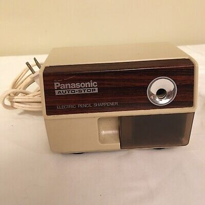 Vintage Panasonic Electric Pencil Sharpener Kp-110 Japan Made Auto Stop Tested