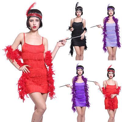 20er Jahre Charleston Kostüm Flapper Fransen Party Abschlussball - Cocktail Party Kostüm