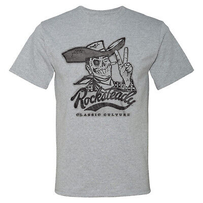 STEADY CLOTHING Rocksteady Howdy Dead Cowboy Athletic Heather T-Shirt 3XL -