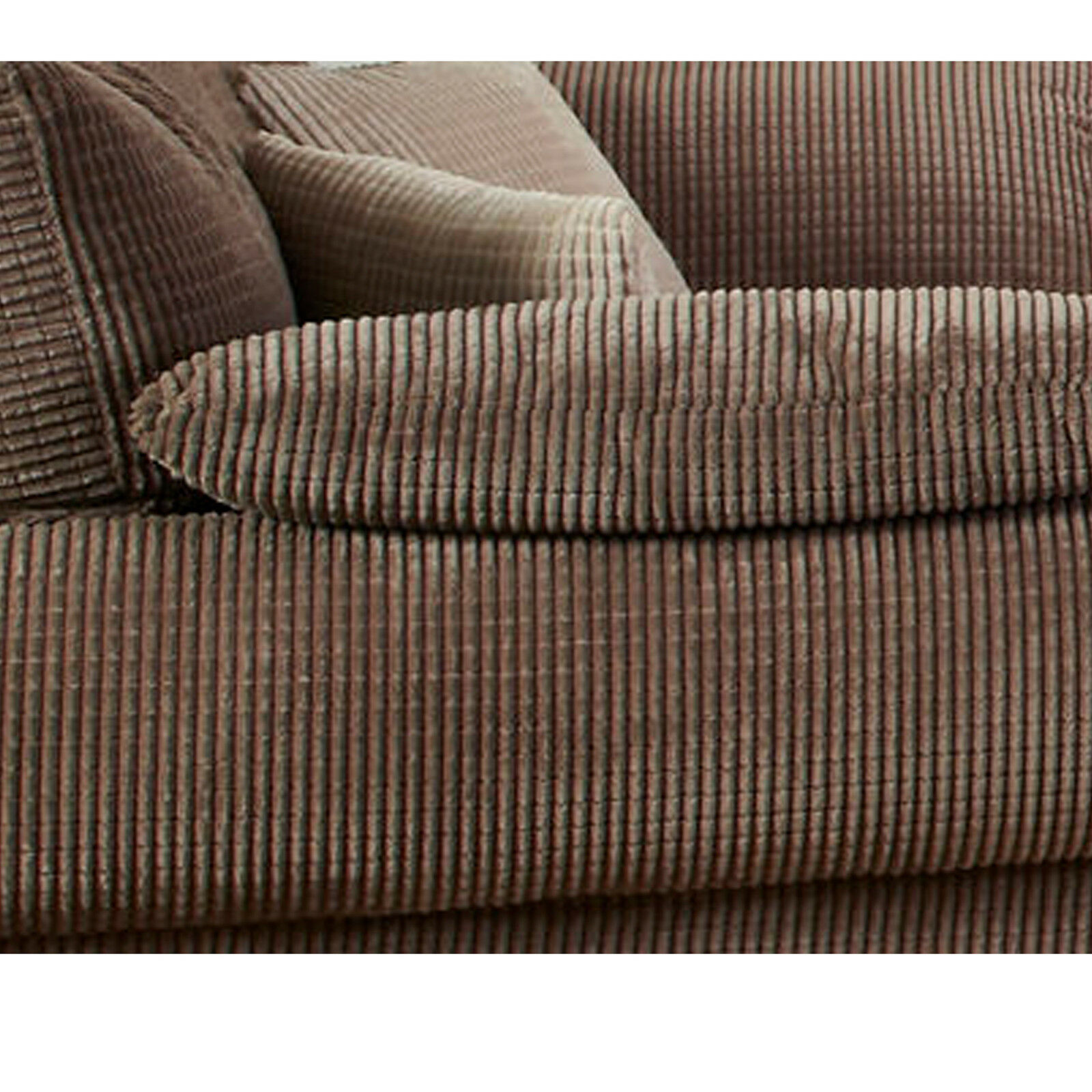 brick effect soft velvet jumbo cord upholstery sofa fabric material in chocolate ebay. Black Bedroom Furniture Sets. Home Design Ideas