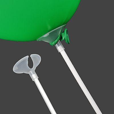 50 Luftballon Stäbe Ballonhalter Ballonstäbe Luftballonhalter Kunststoffstäbe