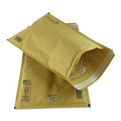 50 x GOLD BUBBLE ENVELOPES 230x340mm(G/4)(EP7)Padded Bags LARGE Postal