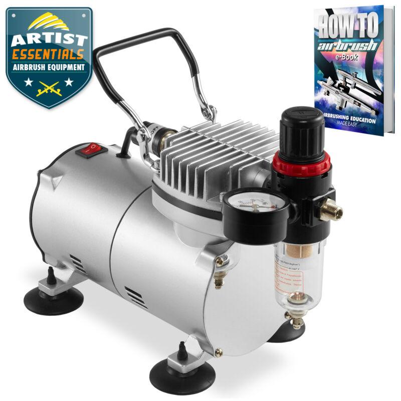 PointZero 1/5 HP Airbrush Compressor Air Pump with Regulator, Gauge, Water Trap