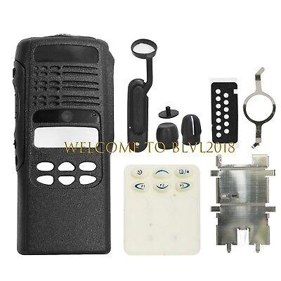 1PCS New Black Front Case Housing Cover For Motorola HT1250 Portable Radio