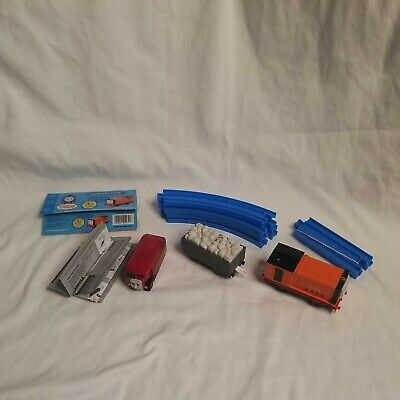 Tomy Thomas & Friends Motorized Bertie, Rusty, & 6 Peices Of Track NOT WORKING