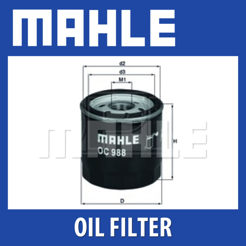 Mahle Oil Filter OC988 - Fits Toyota Auris, Yaris - Genuine Part
