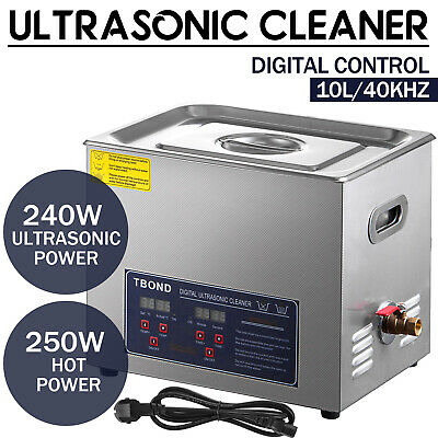 Commercial Ultrasonic Cleaner 10l Digital Industry Heated Heater Wtimer