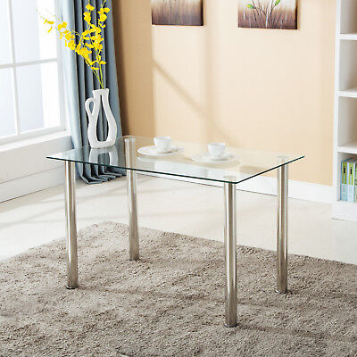 Modern Rectangular Glass Surface Dining Table Kitchen Dining Room (New Dining Room)