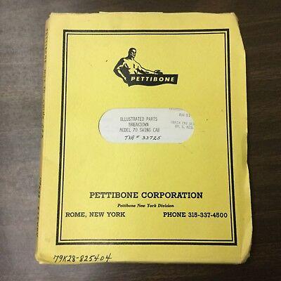Pettibone 70 Crane Parts Manual Book Catalog List Guide Swing Cab Rough Terrain