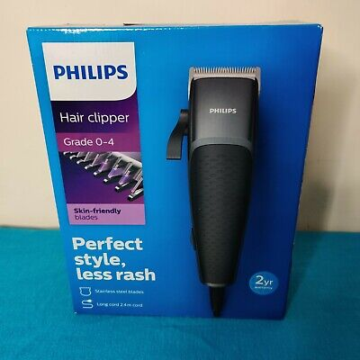 Philips Series 3000 HC3100/13 Corded Hair Clipper Inc Combs Grades1-4 NEW