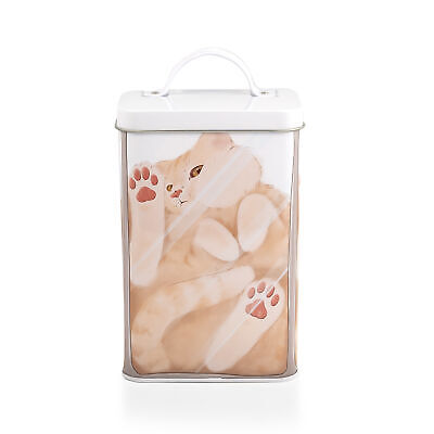 Cat In A Box Storage Tin | Metal Food Storage Container | Perfect For Cat - Food Storage Tin