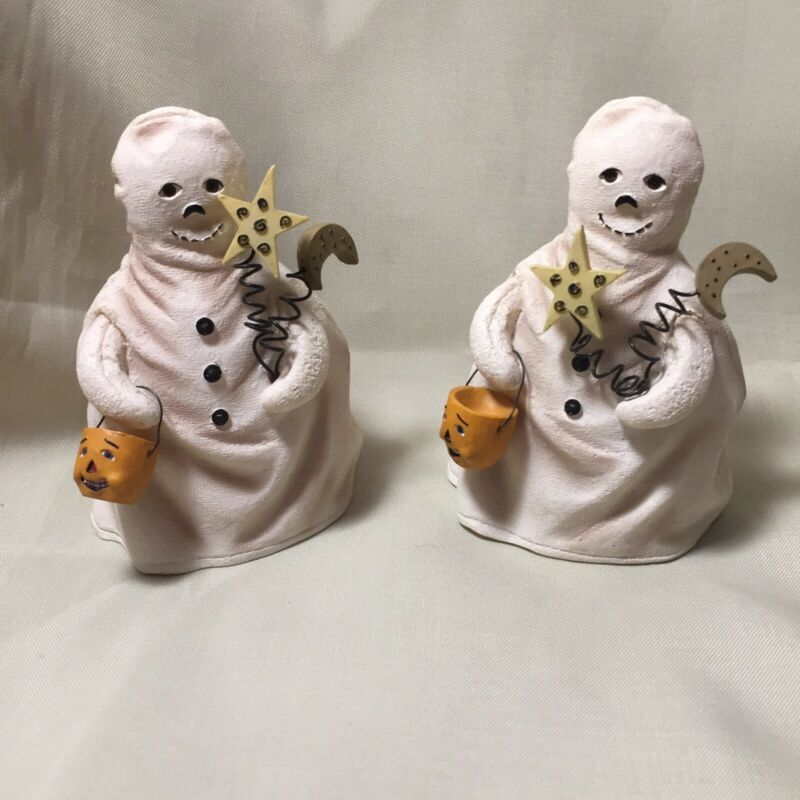 Pair Of Sleepy Hollow Halloween Ghosts By Heather Hykes