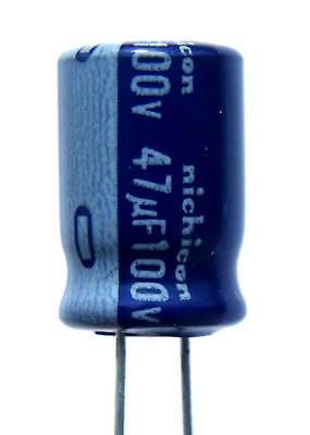 12pcs Nichicon Vx Radial Aluminum Electrolytic Capacitor 47uf 100v New