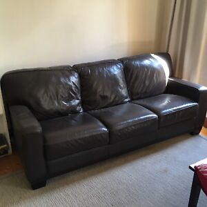 Genuine Leather Lounge Suite