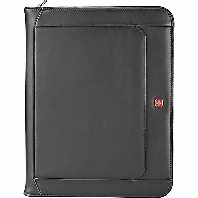 Wenger Leather Zippered Padfolio Executive Business Travel Student
