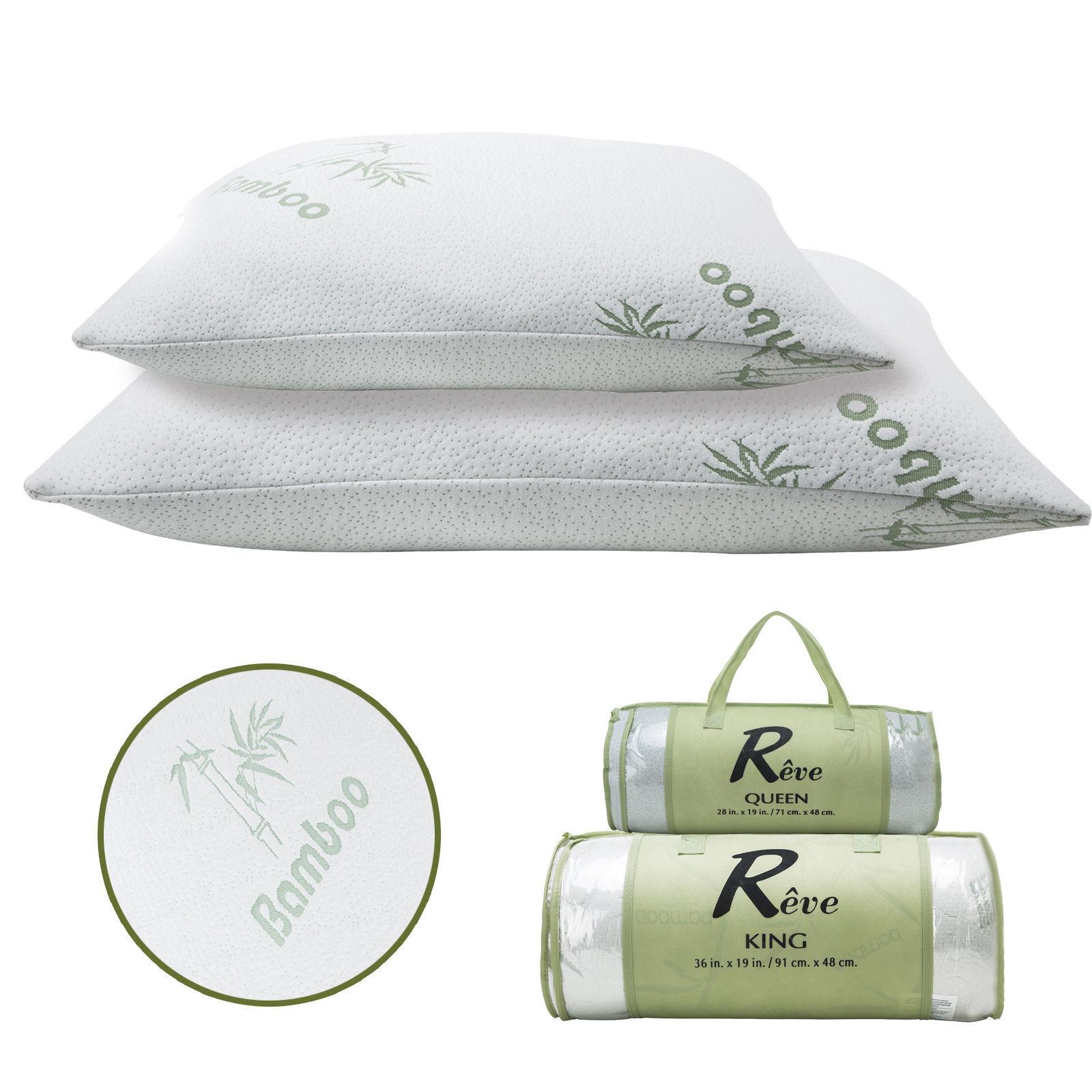 Queen King Size Pillow Hotel Comfort Hypoallergenic Bamboo