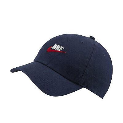 Nike Unisex NSW Heritage 86 Futura Adjustable Hat Midnight Navy 913011-410 d