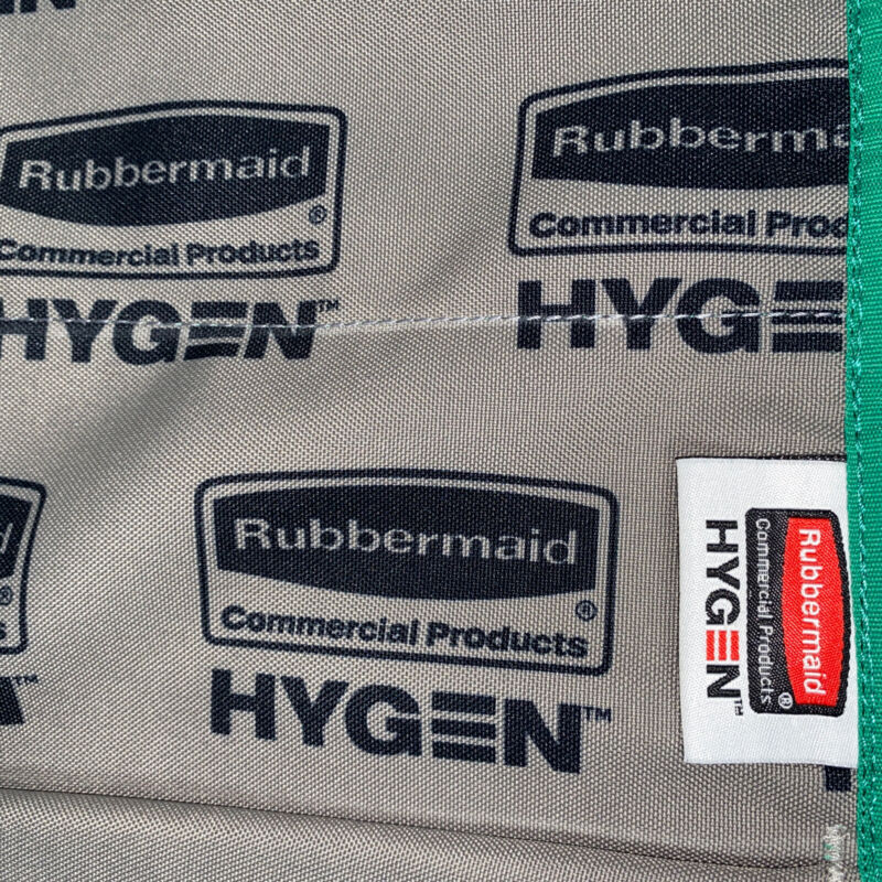 """Push Mop Cover ONLY Rubbermaid Commercial Hygen 1791792 Green New ONE 18"""" X 12"""""""