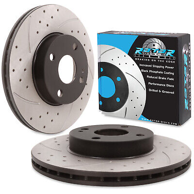 FRONT DRILLED GROOVED 255mm BRAKE DISCS PAIR FOR MAZDA MX5 MX-5 MK2 NB 1.6 1.8