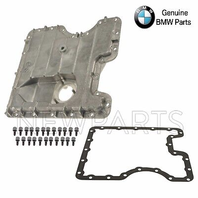 BMW E53 X5 Lower Engine Oil Pan with Drain Plug & Seal + Gasket & Bolts Genuine