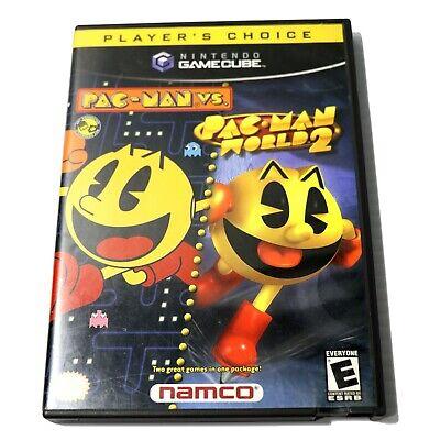 Pac-Man Vs Pac Man World 2 Combo Nintendo Gamecube Complete w/ Manual