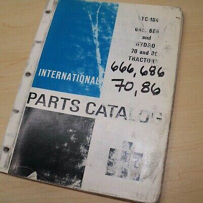 Ih International 666 686 70 86 Tractor Parts Manual Book Spare Catalog Farm List