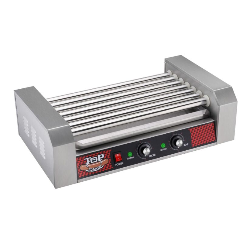 GNP Stainless Steel Electric Commercial 18 Hot Dog 7 Roller Grilling Machine
