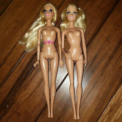 Barbie Life in the Dream House Articulated Doll With Eyelashes Nude LOT OF 2