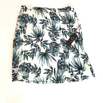 Gibson X Hi Sugarplum! Navio Pleat Palm Print Skirt New Size XL comprar usado  Enviando para Brazil