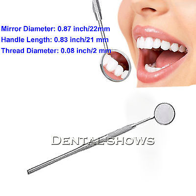 10pcs Dental Mouth Mirrors Examination Instrument Front Surface Coating