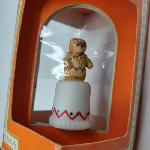 Vintage Enesco Lucy & Me Collectible Porcelain Thimble Bear In Costume