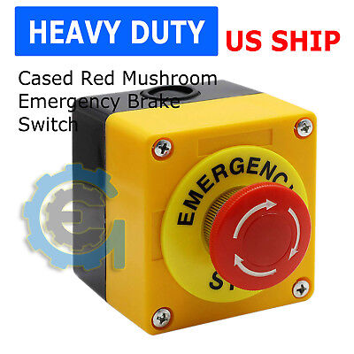 Red Mushroom Emergency Stop Shut Off Push Button Switch No Nc 22mm Cnc Gecko