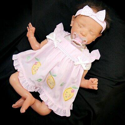 süßes 3 tlg.  Baby Mädchen Sommer Kleid Zitrone Gr. 56,62,68