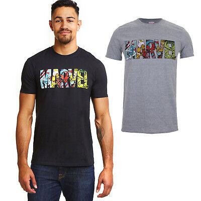 Official - Marvel -Comics Logo - Men's T-Shirt - Black or Grey